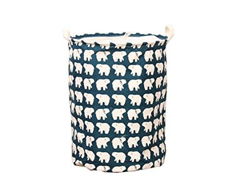Guurachi Fabric Foldable Round Laundry Basket Hamper Closet Storage Bin Bag COLOR 03
