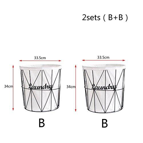 TSAR003 Iron Racks Laundry Hamper Or Basket Dirty Clothes Toys Storage Barrels  E