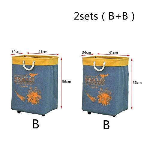 TSAR003 Large Thicker Canvas With Roller Belt Shaped Folding Laundry Hamper Or Basket Trousers Basket Toy Storage Basket  E