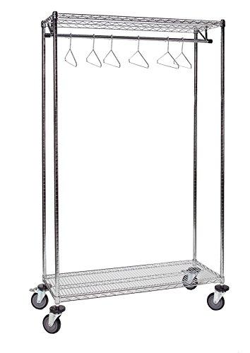 Tarrison GS1860C Chrome Garment Storage Rack 60 Length x 74 Height x 18 Depth