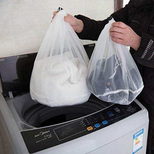 3 PcsSet Drawstring Washing Machine Laundry Bags Mesh Bra Nylon Washing Bags Underwear Cover