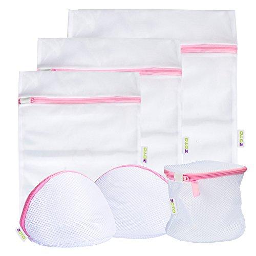 Laundry Wash Bag ZOTO 6 Set Mesh Dedicates Bra Washing Bag with Zipper Lingerie Garment Bag for Net Washer Dryer Washing Machine Protect UnderwearHosierySockBaby ClothTravel Laundry Bag