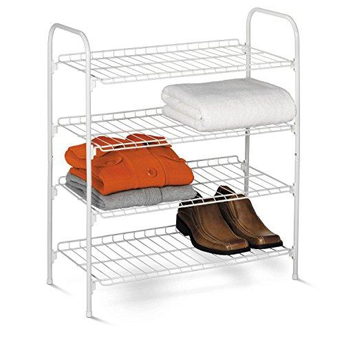 Honey-Can-Do SHO-01172 4-Tier Closet Accessory Shelf White