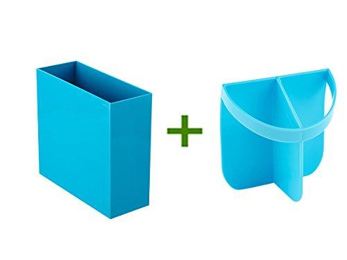 Pool Blue Poppin Hanging File Box Urbio Shorty Insert Blue