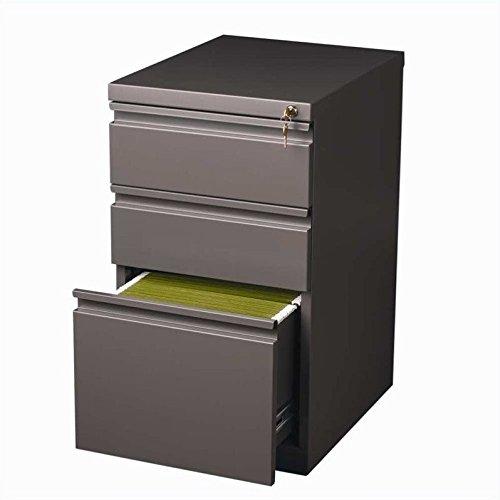 Hirsh Industries 20 Deep Box-Box-File Mobile Pedestal in Med Tone