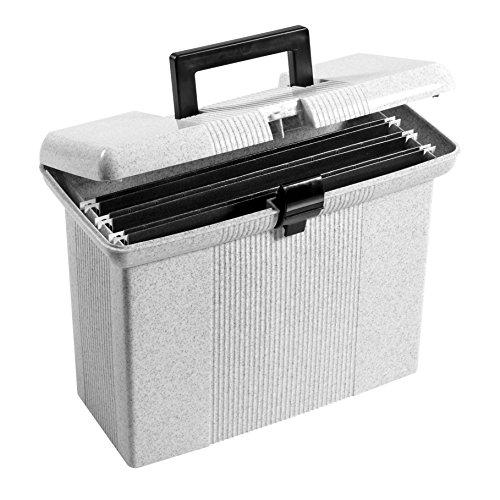 Oxford Portfile Portable File Box Granite 11 H x 14 W x 6-12 D 41737