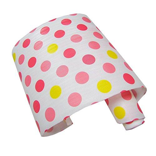 iHappy Non-Adhesive Pink Dots Shelf Paper Drawer Liner 3mWhite