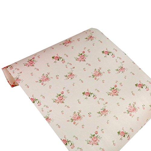 iHappy Non-Adhesive Vintage Rose Shelf Paper Drawer Liner 3mPink