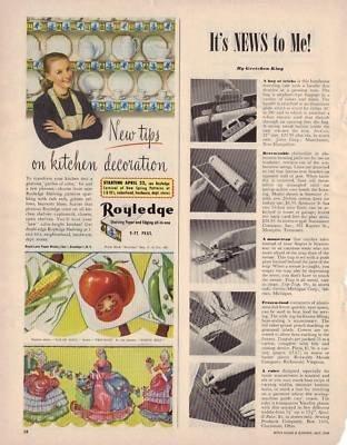 Royledge Shelving Paper 1949 Vintage Antique Advertisement