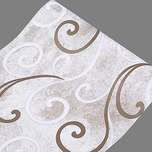 SimpleLife4U Modern Vine Shelving Paper Self-Adhesive Drawer Liner Refurbish Ugly Cupboard Doors 177 Inch By 13 Feet