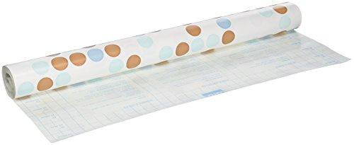 Magic Cover Self-Adhesive Shelf Liner 18-Inch by 24-Feet Polka Blue