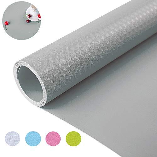 Bloss Premium Shelf Liner Non-Slip Drawer Liner No Stick Washable Fridge Mat Water-Poof for Kitchen Cabinet Shelf 177 ×177 Inches - Grey