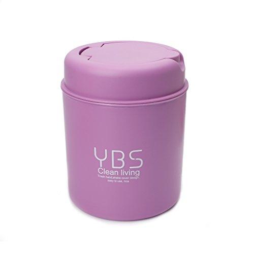 Onpiece Cute Mini Small Waste Bin Desktop Garbage Basket Table Home Office Trash Can Purple