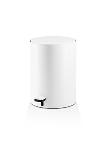 DWBA Round Bin Step Trash Can Pedal Wastebasket with Lid 6L Waste Receptacle White
