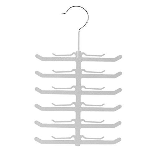 RoseSummer Fishbone Necktie Tie Belt Hanger Rack Shawl Scarf Clip Holder Organizer