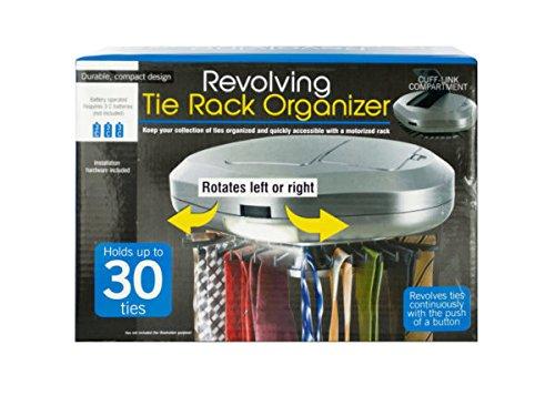 Revolving Tie Rack Organizer - Pack of 4