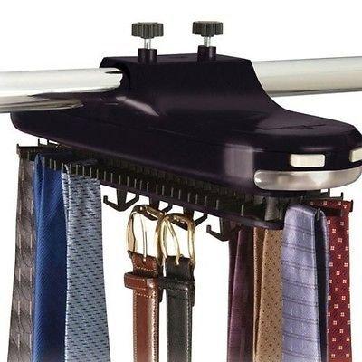 Rotating Revolving Tie Rack Organizer Closet Organizer Belt Scarf Neck Lighted