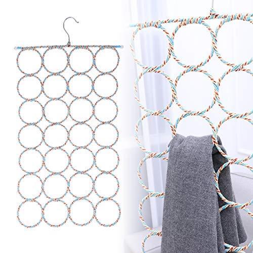 WINOMO 2 Pcs Scarf Hanger Organizer HolderMultifunctional 28 Count Loops Scarf Racks Tie RacksCloset Organizer and StorageMixed Color
