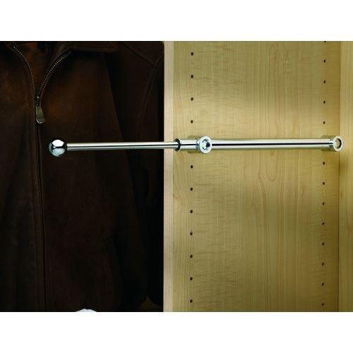 Rev-A-Shelf - CVR-14-CR - 14 in Chrome Pull-Out Designer Valet Rod