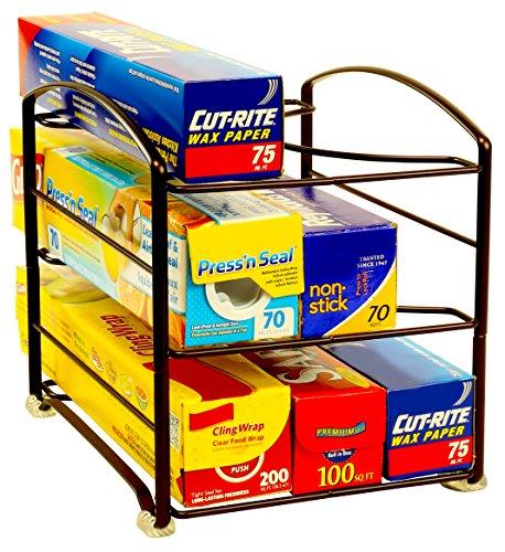 DecoBros Kitchen Wrap Organizer Rack Bronze Small  Standard 2-12 BOX