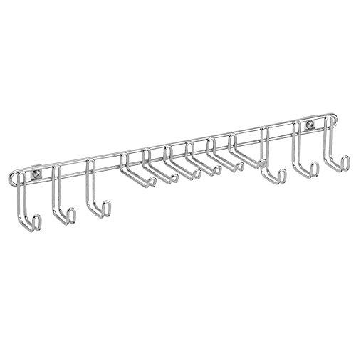 InterDesign Classico Wall Mount Closet Organizer Rack for Ties Belts - Chrome