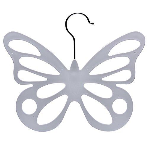 Ioffersuper Butterfly Scarf Shawl Hanger Necktie Belt Closet Storage Holder Hook Organizer White