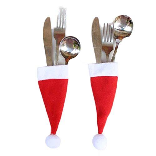 Christmas GiftSMTSMT Christmas Decorative tableware Knife Fork Set Storage Tool