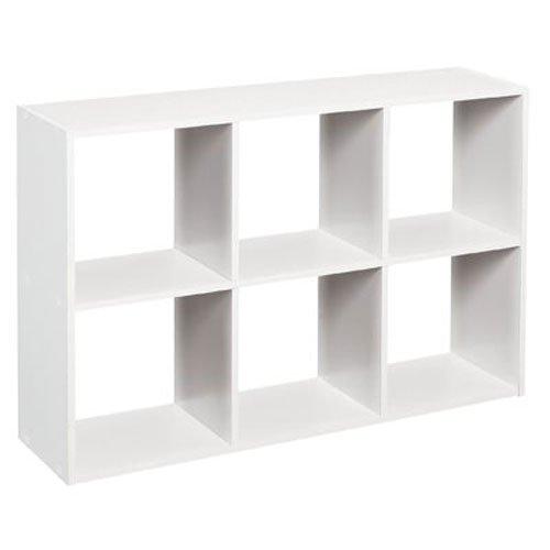 ClosetMaid 1578 Cubeicals Mini 6-Cube Organizer White