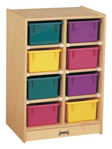 Jonti-Craft 8 Tray Kids Children Toy Storage Organizer Cubbie Mobile Storage Unit Without Trays