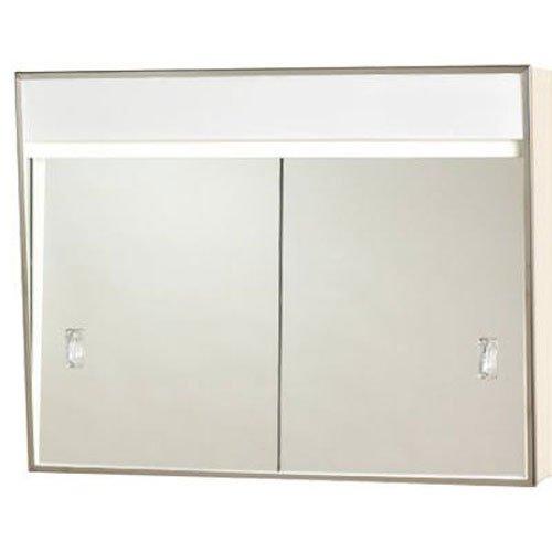 701L Series Sliding Medicine Cabinet 2 Light With Courtesy Outlet 24