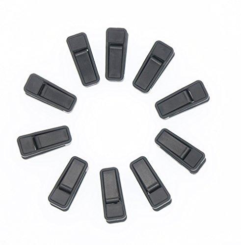 Fushing Plastic Hanger Clips 50 Pack Black Finger Clips for AmazonBasics Velvet StandardShirtDressSuitPants Hangers