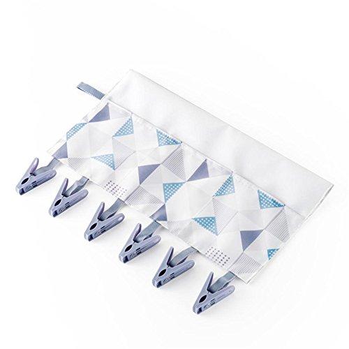 DORIC 1Set  6Pcs Socks Gloves Clothes Plastic Hanger Clips With Storage bag