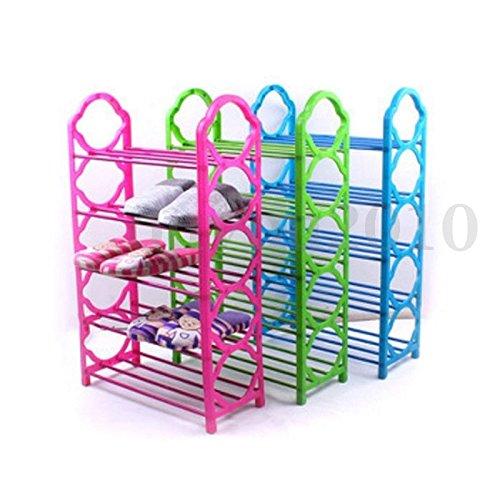 5 Layer Plastic Shoe Rack Wall Bench Shelf Closet Organizer Storage Box Stand