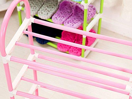 Julvie Multilayer Simple Plastic Shoe Rack Multifunctional Combination Racks Dormitory Shoe Shelf