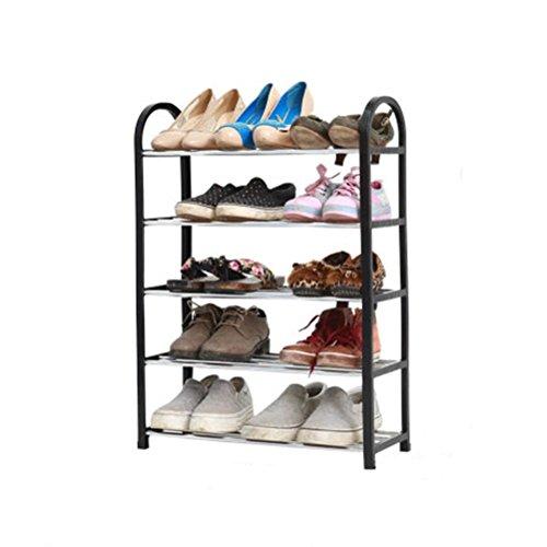 ZI LIN SHOP- Assembled Simple Footwear College Students Economical Home Modern Simple Storage Multi - Storey Plastic Shoe Rack Shoe rack  Color  Black  Size  L