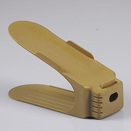 upper and lower plastic shoe rack shoe-finishingLiving room bathroom slippers shoe storage rackshelf-G