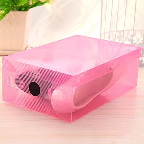 MADON DONGD Foldable Clear Plastic Shoe Storage Box Transparent Stackable Foldable Shoe Box Organizers