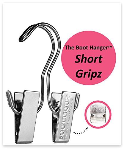 The Boot Hanger - Shoe Storage Space Saver set of 3 Boot Hanger Boot Holder Boot Clips Boot Storage Short Gripz