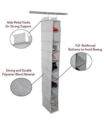 Hanging Shoe and Accessory Organizer by Adorn Insta-Shelf 10-tier
