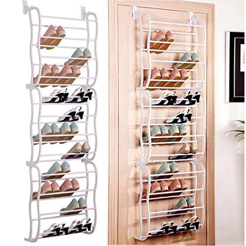 Garain 36 Pairs 12 Tiers Over the Door Shoe Rack Wall Hanging Shoe Shelf Storage Organizer