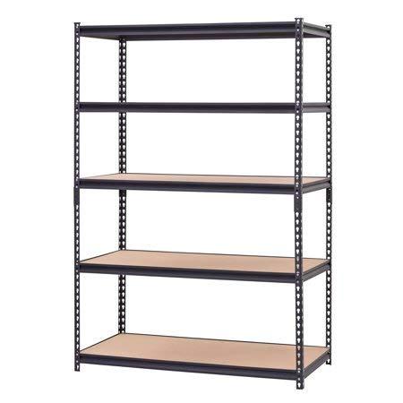 Hardware Outdoor Heavy Duty Garage Shelf Steel Metal Storage 5 Level Adjustable Shelves Unit 72 H x 48 W x 24 Deep Pack of 2