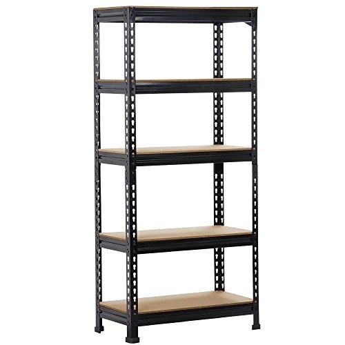 Topeakmart 5 Tier Storage Rack Heavy Duty Shelf Shelving Unit and Storage Shelves Garage Shelving