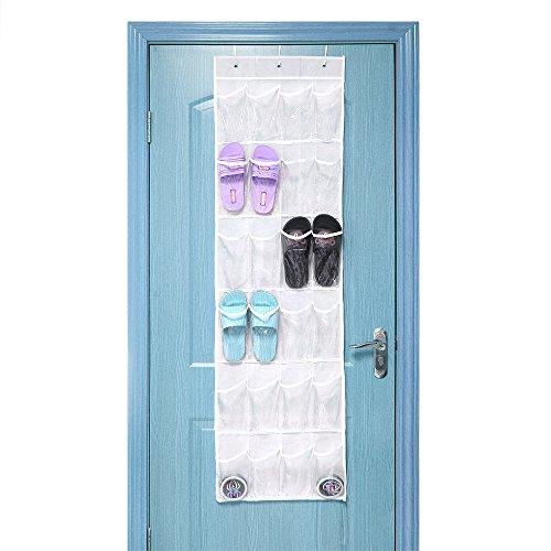 NEX Shoe Organizer Over The Door Shoe Rack 24-Pocket Behind the Door Hanging Organizer Storage Bag