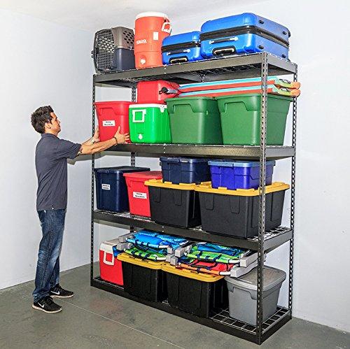 SafeRacks Garage Storage Rack - Hammertone  Steel Shelving Unit  2D x 6W x 7T