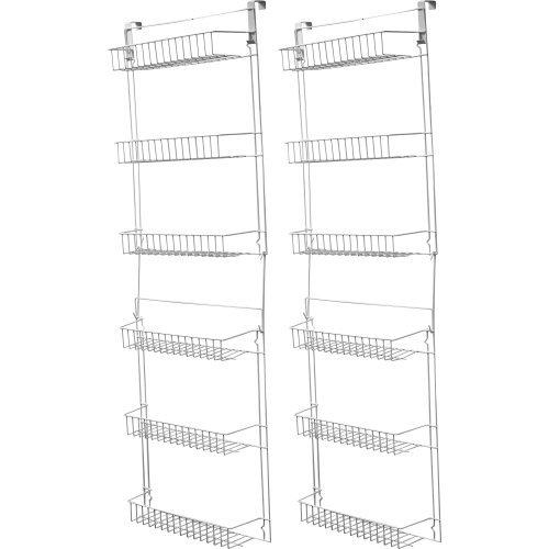 Trademark Home VinylSteel 5-Feet Overdoor Storage Rack Set of 2