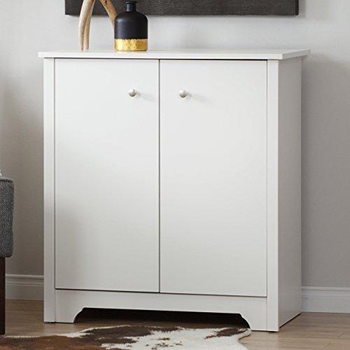 South Shore Vito Small 2-Door Storage Cabinet Pure White