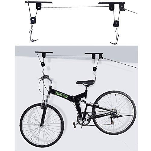 New Bike Bicycle Lift Ceiling Mounted Hoist Storage Garage Hanger Pulley Rack by Interstellarr