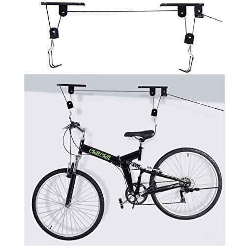 Shindak New Bike Bicycle Lift Ceiling Mounted Hoist Storage Garage Hanger Pulley Rack