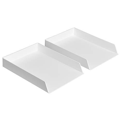 AmazonBasics Plastic Organizer - Letter Tray White 2-Pack
