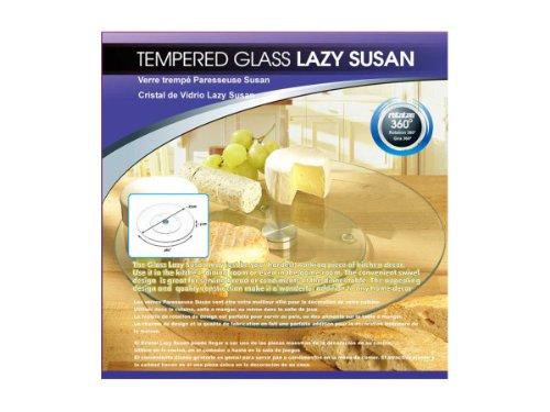 Bulk Buys Tempered glass lazy suzan Set of 3